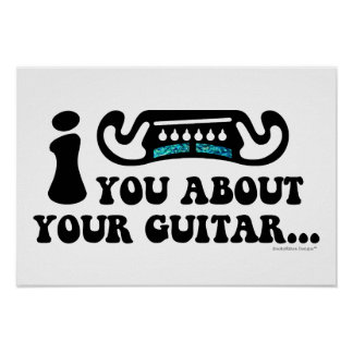 I Mustache You About Your Guitar Poster