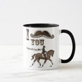 I mustache you equestrian mug