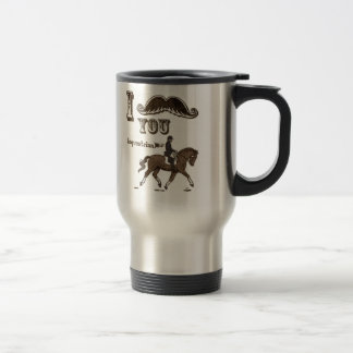 I mustache you equestrian 15 oz stainless steel travel mug