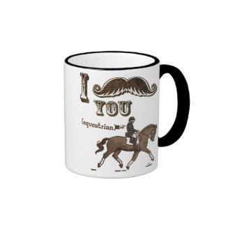 I mustache you equestrian ringer mug