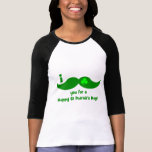 I mustache you for a happy St Patrick's Day T-shirt