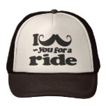 I Mustache You for a Ride Mesh Hat