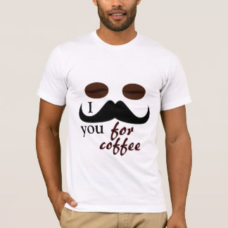 I mustache you for coffee tshirt