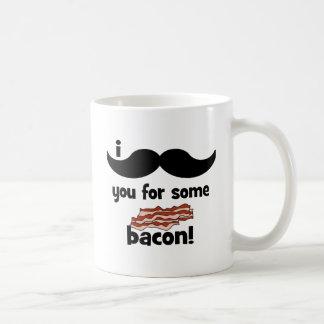 I mustache you for some bacon coffee mug