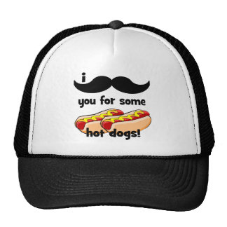 I mustache you for some hot dogs! mesh hat