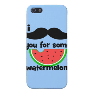 I mustache you for some watermelon! cover for iPhone SE/5/5s