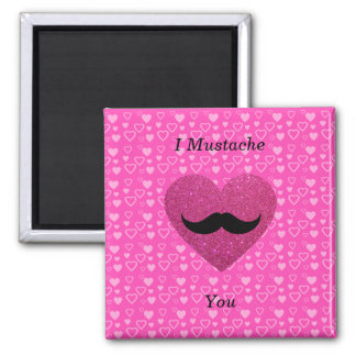 I mustache you hearts magnets
