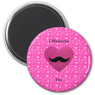 I mustache you hearts refrigerator magnet