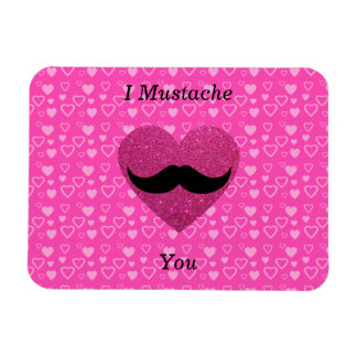 I mustache you hearts magnet