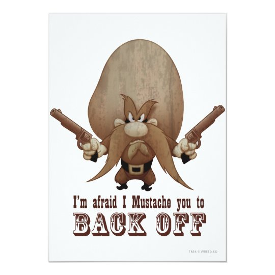 I Mustache You To Back Off Card