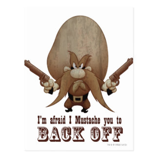 I Mustache You To Back Off Postcard