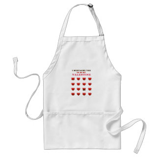 I Mustache You to be my Valentine Adult Apron
