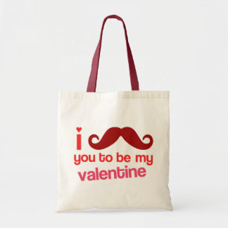 i mustache you to be my valentine bag