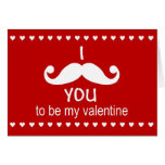 I Mustache you to be my valentine card