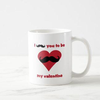i mustache you to be my valentine coffee mug