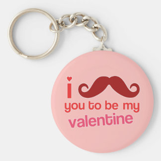 i mustache you to be my valentine keychain