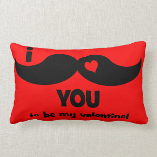 I mustache you to be my Valentine Throw Pillow