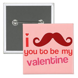 i mustache you to be my valentine pins