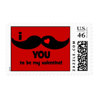 I mustache you to be my valentine stamp