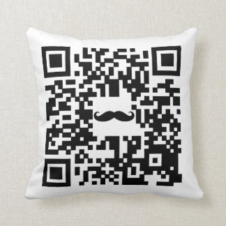 I Mustache You To Be My Valentine-QR Code Geek's Pillow