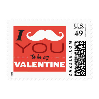 I Mustache You To Be My Valentine Stamps