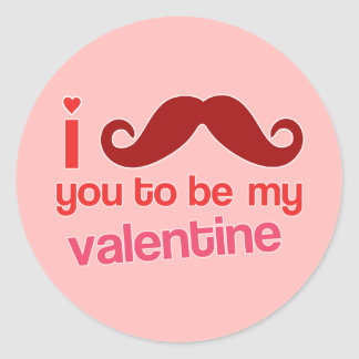 i mustache you to be my valentine sticker