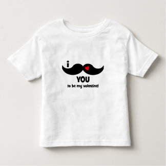 I mustache you to be my valentine! toddler t-shirt