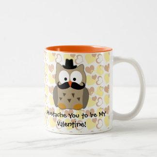 I Mustache You to be My Valentine Two-Tone Coffee Mug