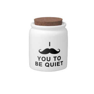 I Mustache You to be Quiet Candy Dishes