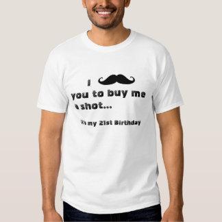I mustache you to buy me a shot t shirt