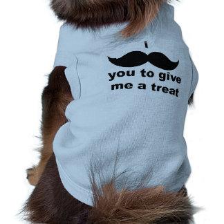 I Mustache You to Give Me a Treat Dog Shirt