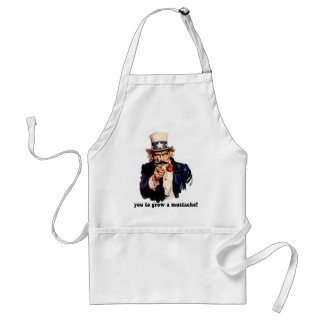 I mustache you to grow a mustache adult apron