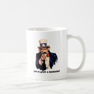 I mustache you to grow a mustache mugs