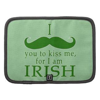 I Mustache You to Kiss Me I'm Irish! Organizer