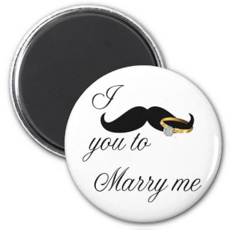 I Mustache you -to Marry Me 2 Inch Round Magnet