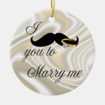 I Mustache you -to Marry Me Christmas Ornament