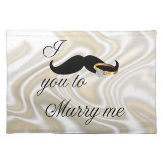 I Mustache you -to Marry Me Cloth Placemat