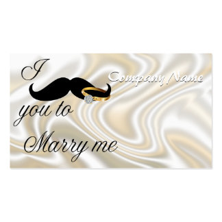 I Mustache you -to Marry Me Double-Sided Standard Business Cards (Pack Of 100)
