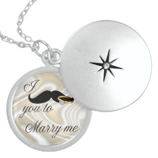 I Mustache you -to Marry Me Locket Necklace