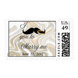 I Mustache you to Marry Me  Postage