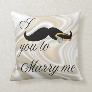 I Mustache you -to Marry Me Throw Pillows