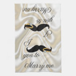 I Mustache you -to Marry Me Towel