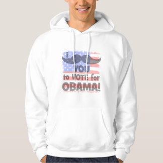 I mustache you to vote for Obama Hoodie