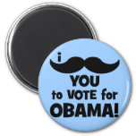 I mustache you to vote for Obama Magnet