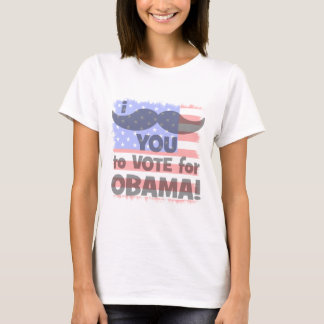 I mustache you to vote for Obama T-Shirt