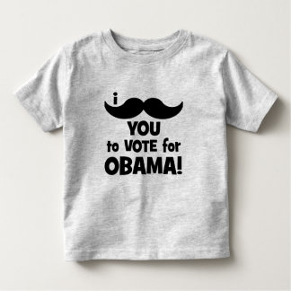 I mustache you to vote for Obama Toddler T-shirt