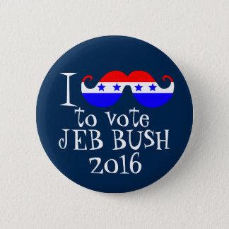 I Mustache You to Vote Jeb Bush 2016 Button