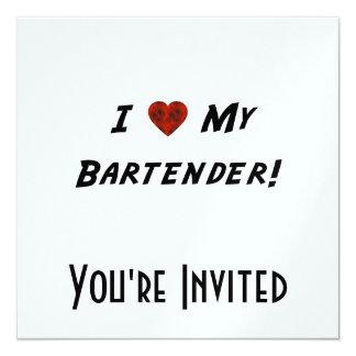 I ♥ My Bartender! Card