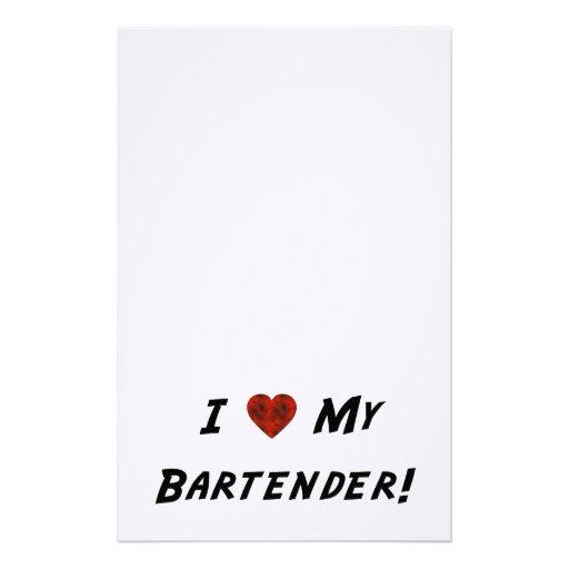 I ♥ My Bartender! Customized Stationery