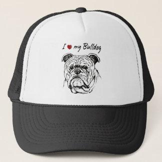 I ❤ my  Bulldog words & lovely graphic! Trucker Hat